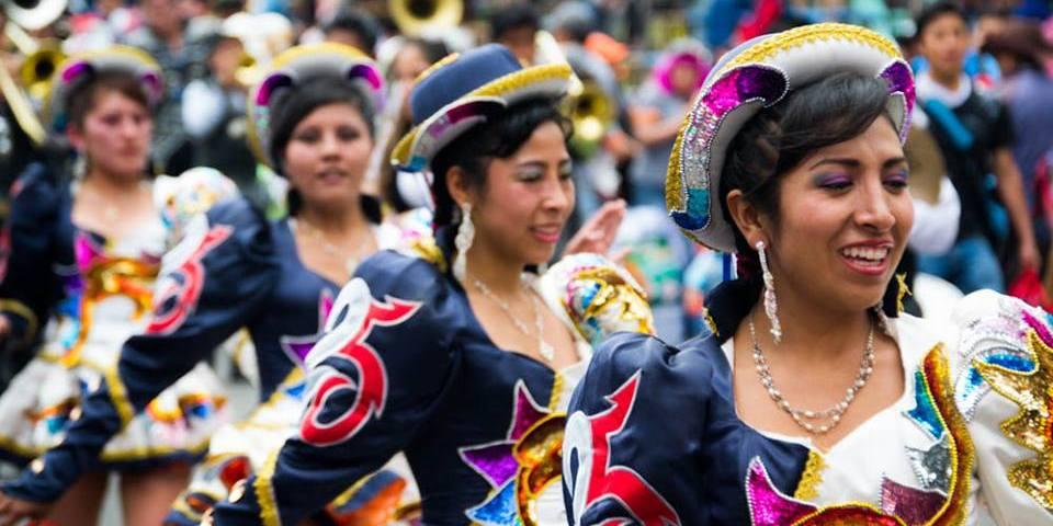 festival dancers in south america