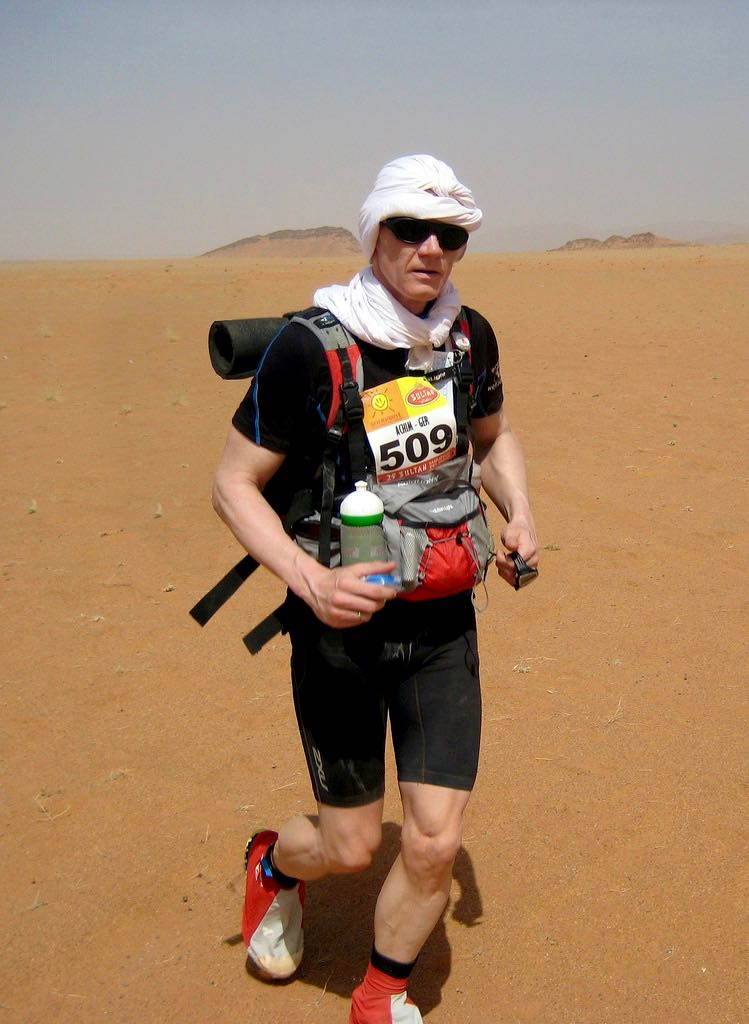 Achim Knacksterdt in the 25th Annual Mararthon Des Sables, the most gruelling desert race in the world! Photo: Flickr US Army Corps of Engineers