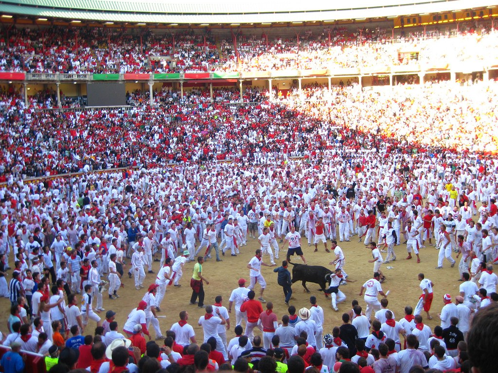 In-Pamplona-during-San-Fermin-after-the-running-of-the-bulls