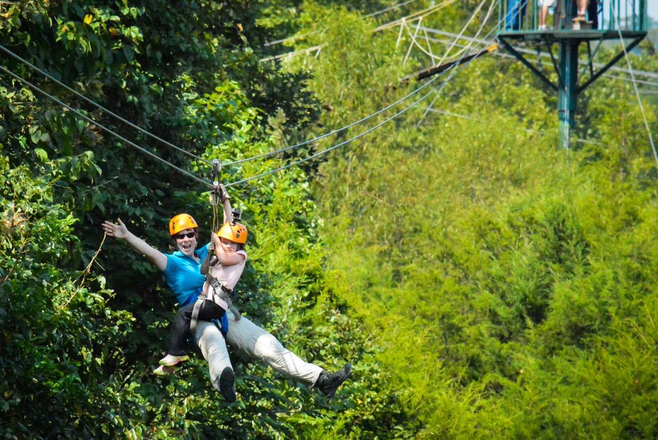 branson adventure zipline for two