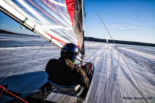 Ice Yachting one of the best winter extreme sports