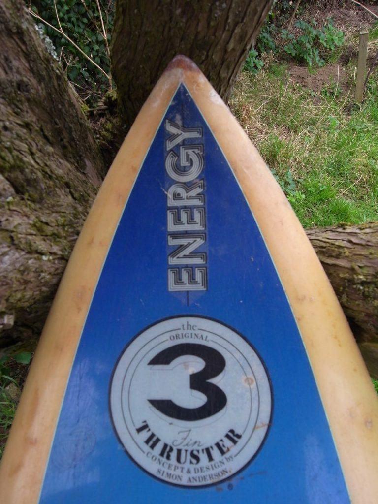 1981 Simon Anderson Thruster 3 Energy Surfboards