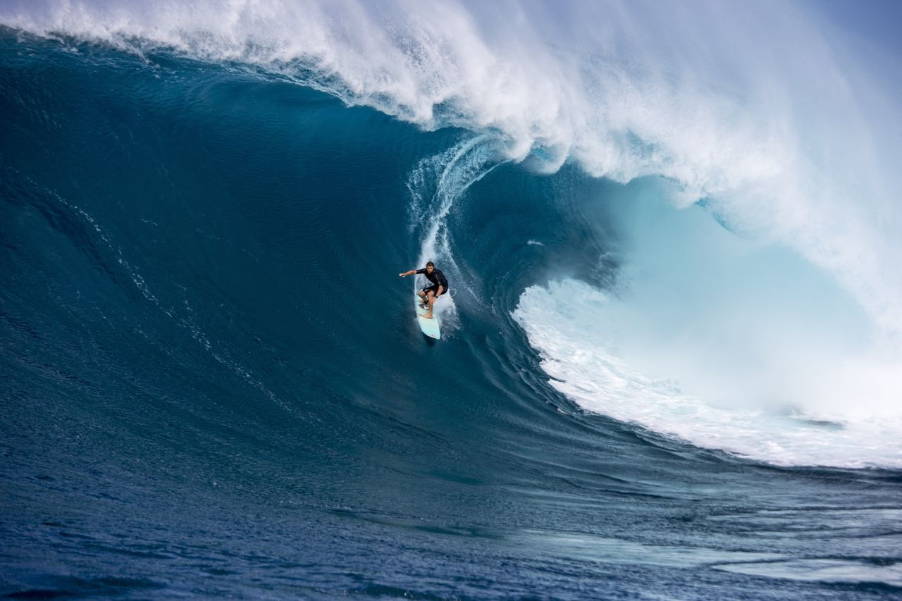 Ian Walsh big wave by Zak Noyle. DISTANCE BETWEEN DREAMS (Opening Night Film - Wednesday 4th January) USA - Jaws, Hawaii at Bells Beach Surf Film Festival.