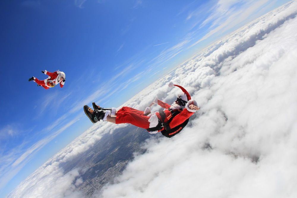 Christmas Gifts Santa Skydiving