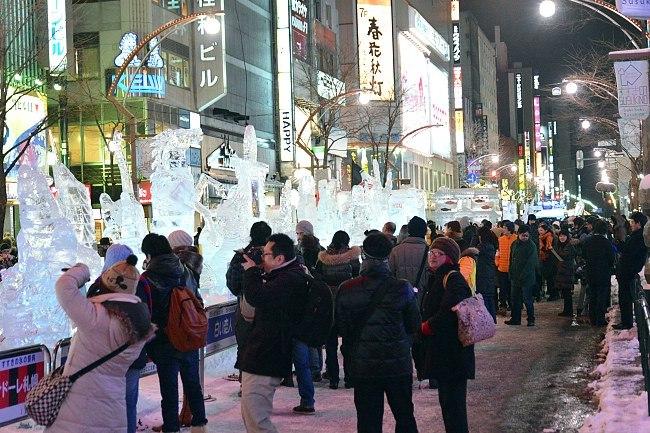 City walk at Sapporo Snow Festival