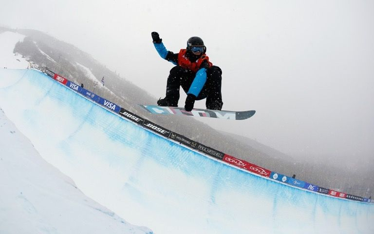 Half Pipe Snowboarding event at the Asian Winter Games