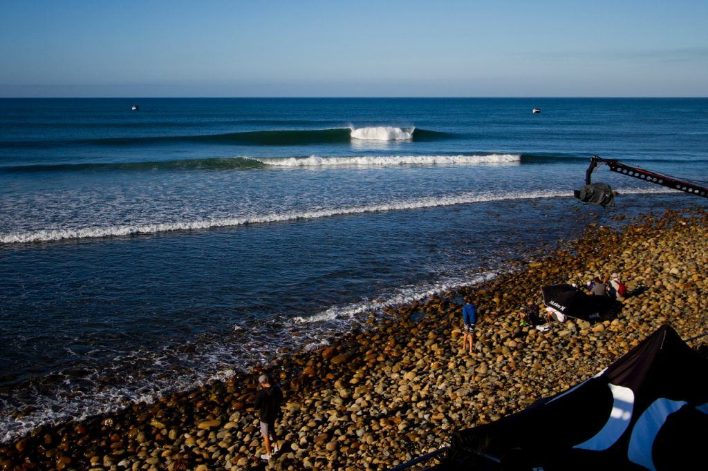 WSL championship tour, The Line up. Hurley Pro at Trestles, San Clemente, California. Photo by Morris