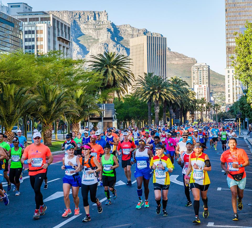 running through the city in the Cape Town Marathon 2017, one of the best marathons in africa
