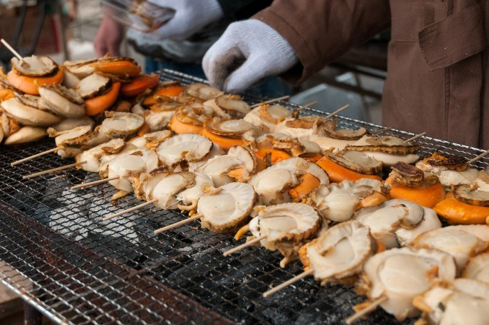 Street food at the Sapporo Snow Festival
