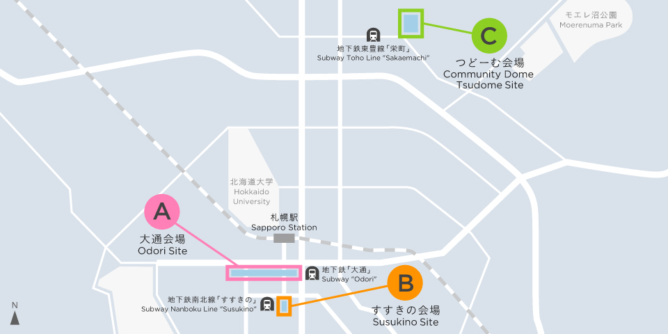 Sapporo Snow Festival, Sapporo Street map