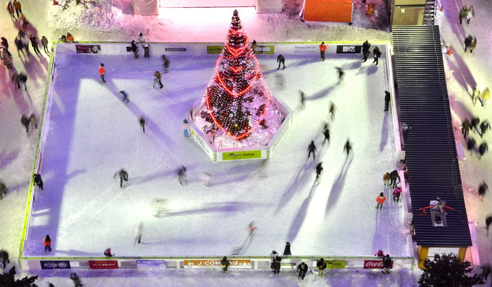 Sapporo snow festival ice rink