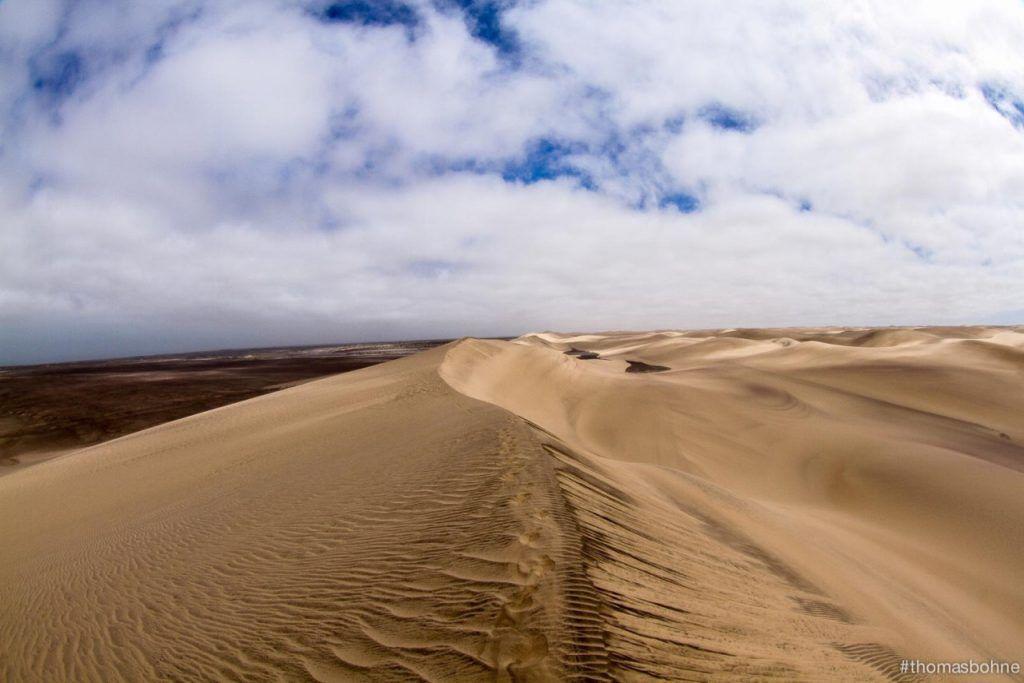 4 Deserts Grand Slam. Along the dune ridge in the Namib Race. Photo Credit- 4Deserts