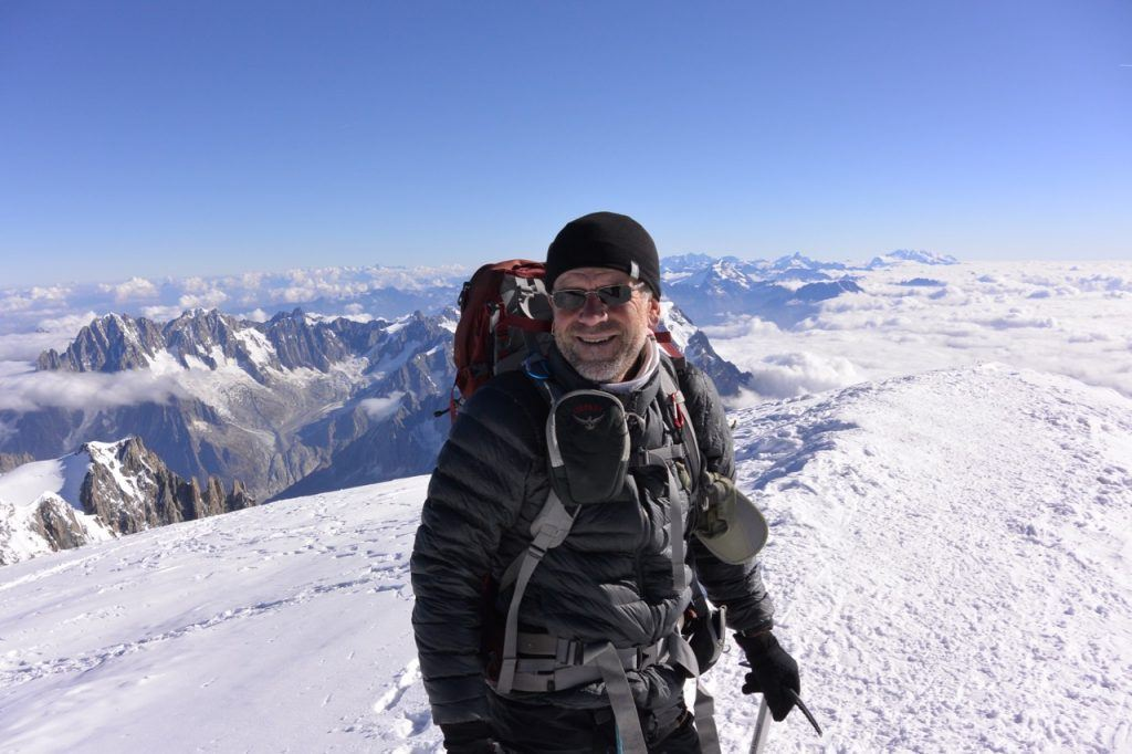 Huw Kingston at Mont Blanc Summit