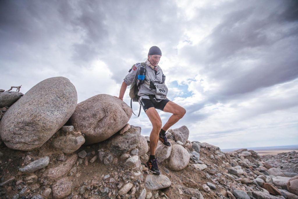 Running through the Gobi Desert. Photo credit: 4Deserts. 4 Deserts Grand Slam
