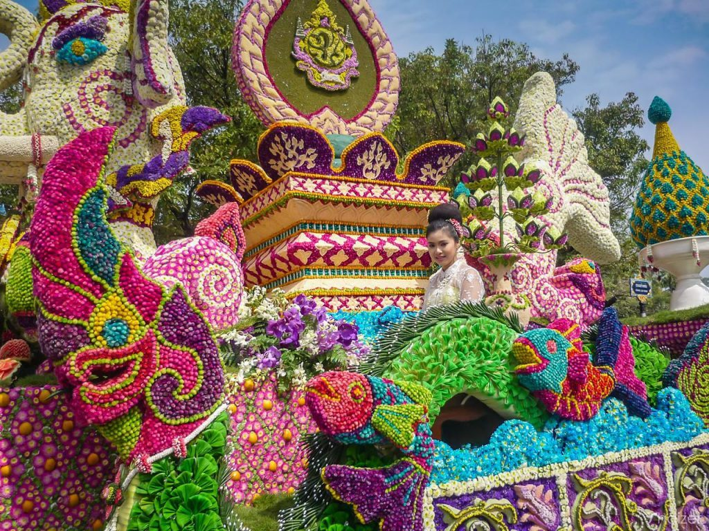 Festivals to See in Thailand. Chiang Mai Flower Festival. Photo credit- Thaizer Thailand Travel Guide