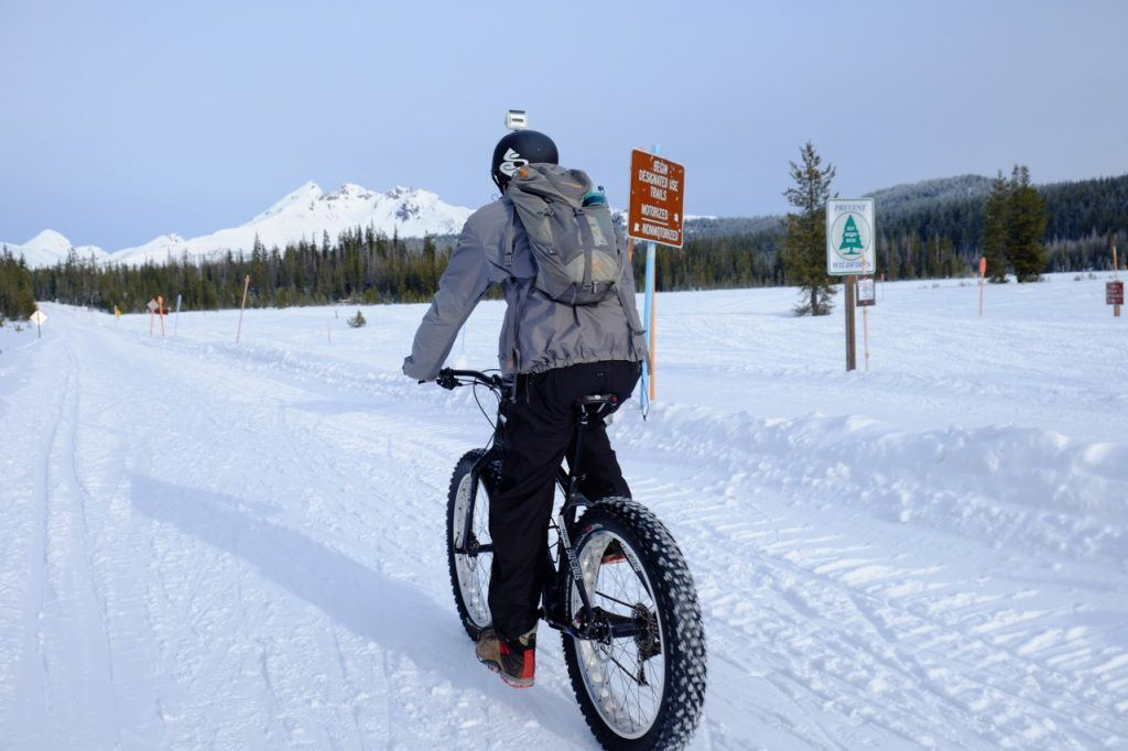 """Fat Bike riding The """"Bend Double:"""" Ski and Mountain Bike in the Same Day in Central Oregon's Playground. Photo Credit: Flickr David Davis"""