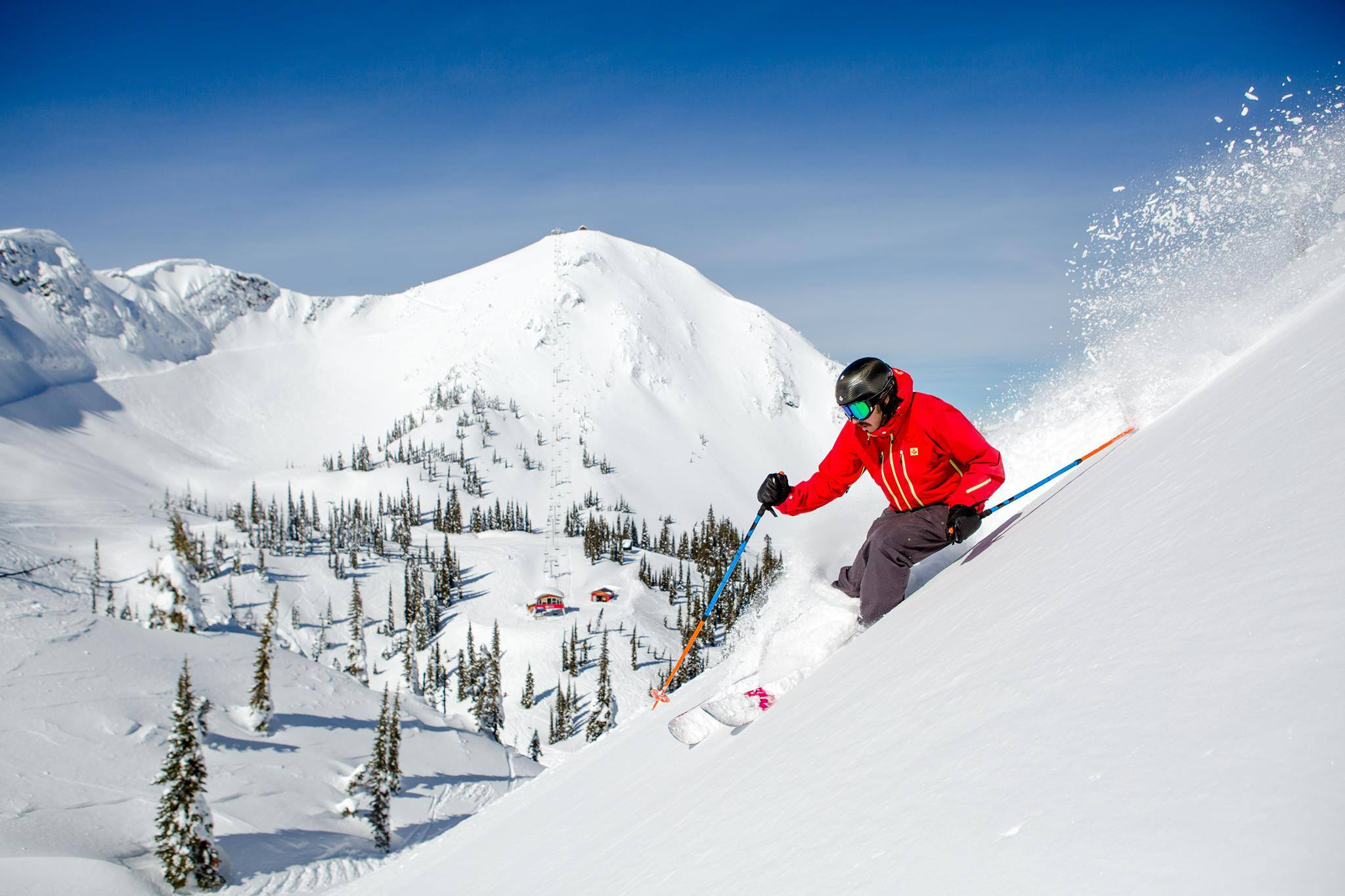 Champagne Snow skiing at Fernie Alpine Resort, Fernie, BC, Canada