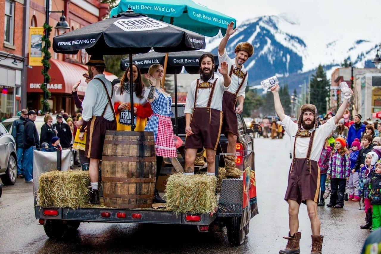 ski town festivals Griz Street Parade in Fernie, BC