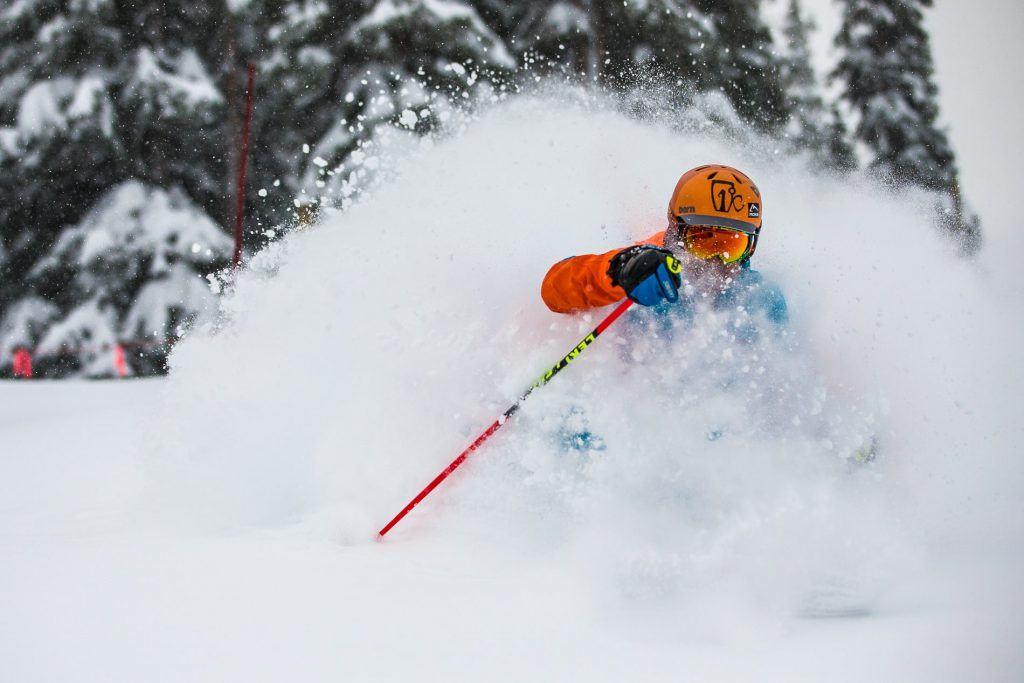Head deep snow at A-Basin