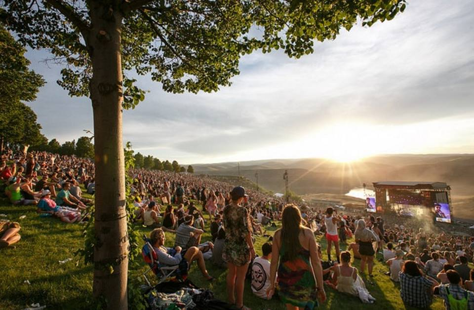 On top of the hill at Sasquatch! Music Festival, one of north america's greatest outdoor music festivals