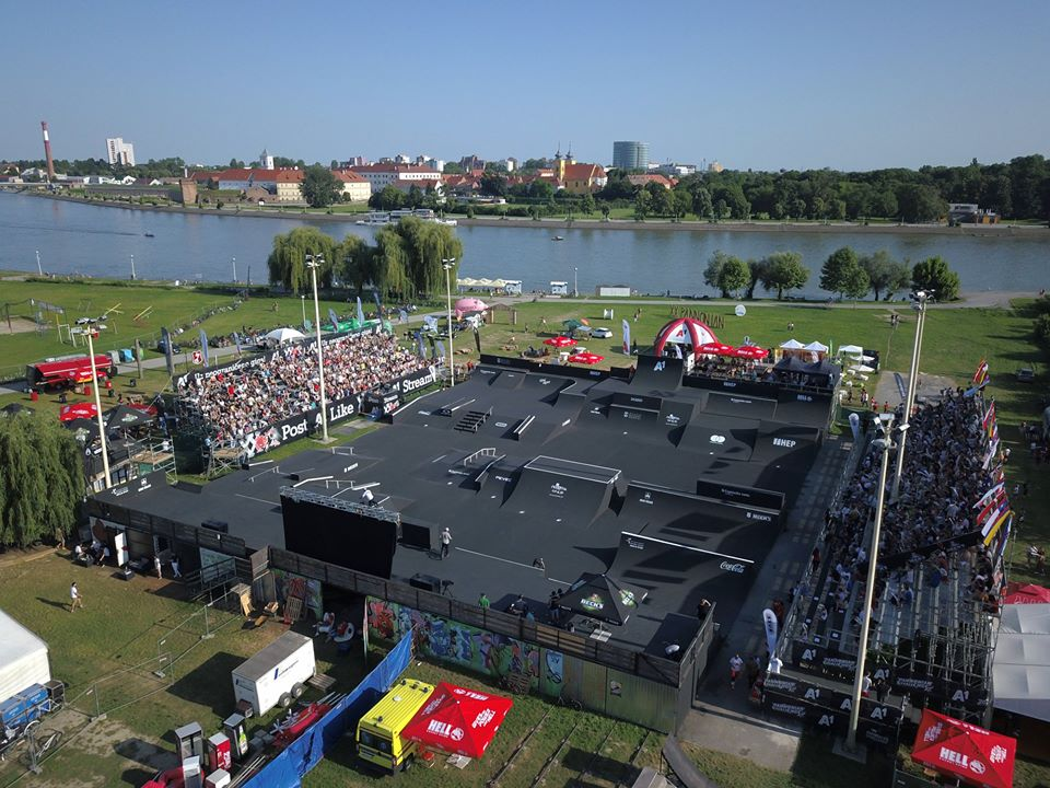 Pannonian Challenge Course BMX and skateboarding event in Croatia