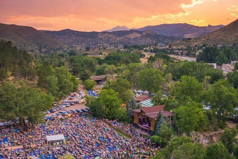 Telluride Bluegrass Festival at Suset in Telluride, Colorado one of North America's Greatest Outdoor Music Festivals