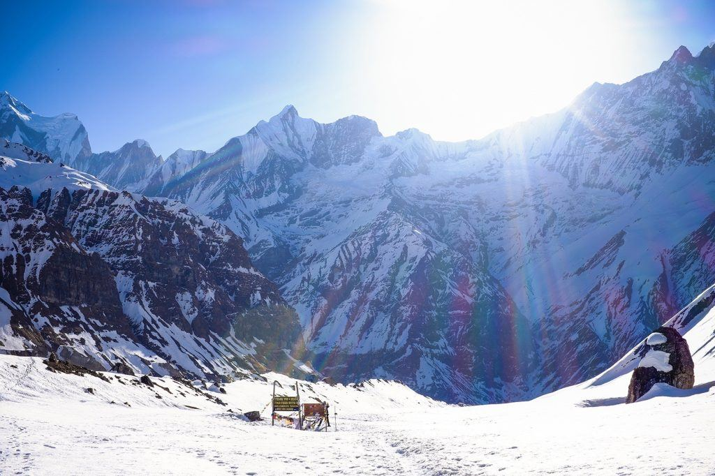 The view looking down from the Annapurna Base Camp will leave you speechless