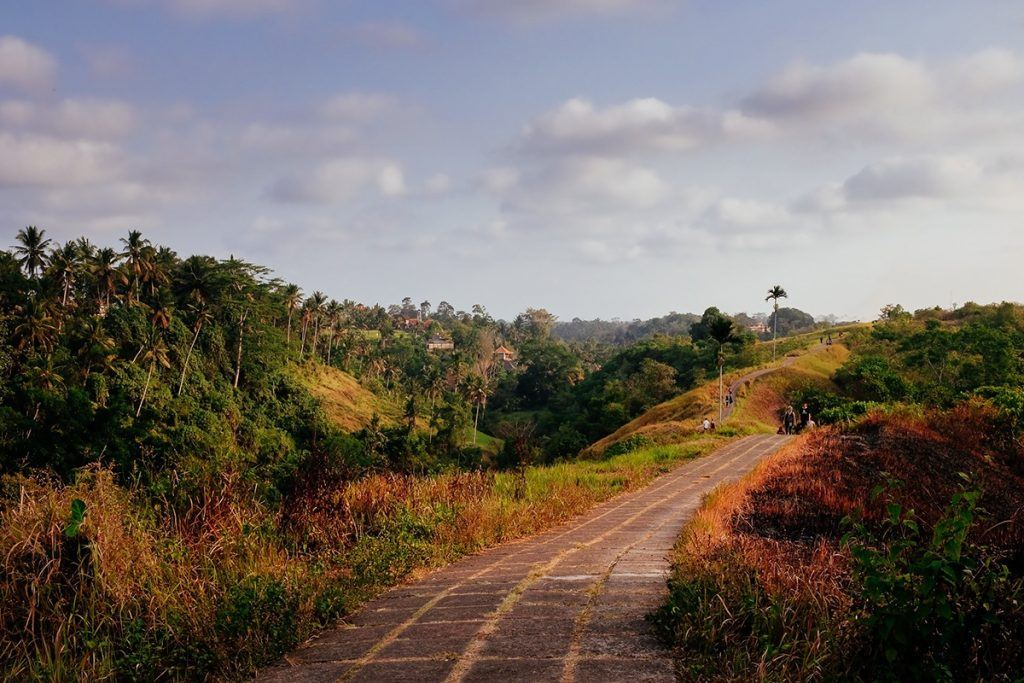 Discover the green hills in Ubud, Bali backing the asian trail