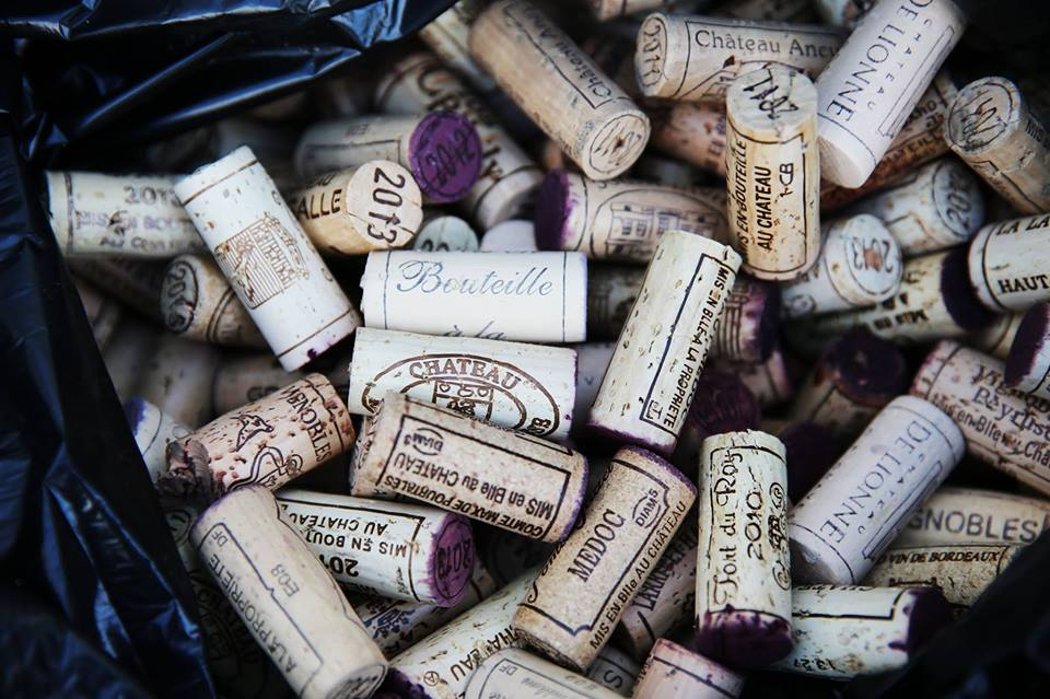 Corks from the Bordeaux Wine Festival, one of the best drinking festivals in the World