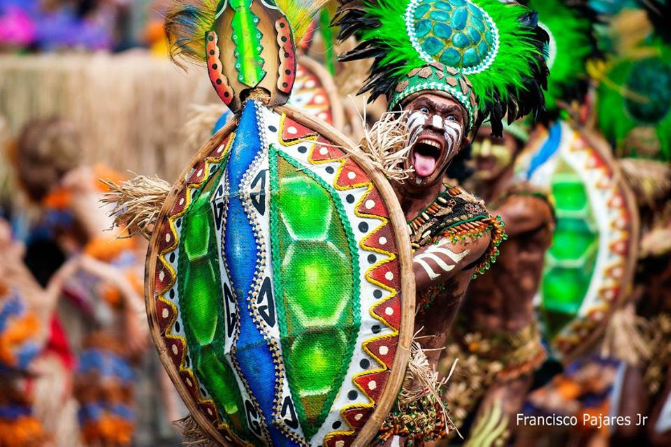The colorful religious festival Dinagyang Festival has to be wittnessed backpacking the asian trail