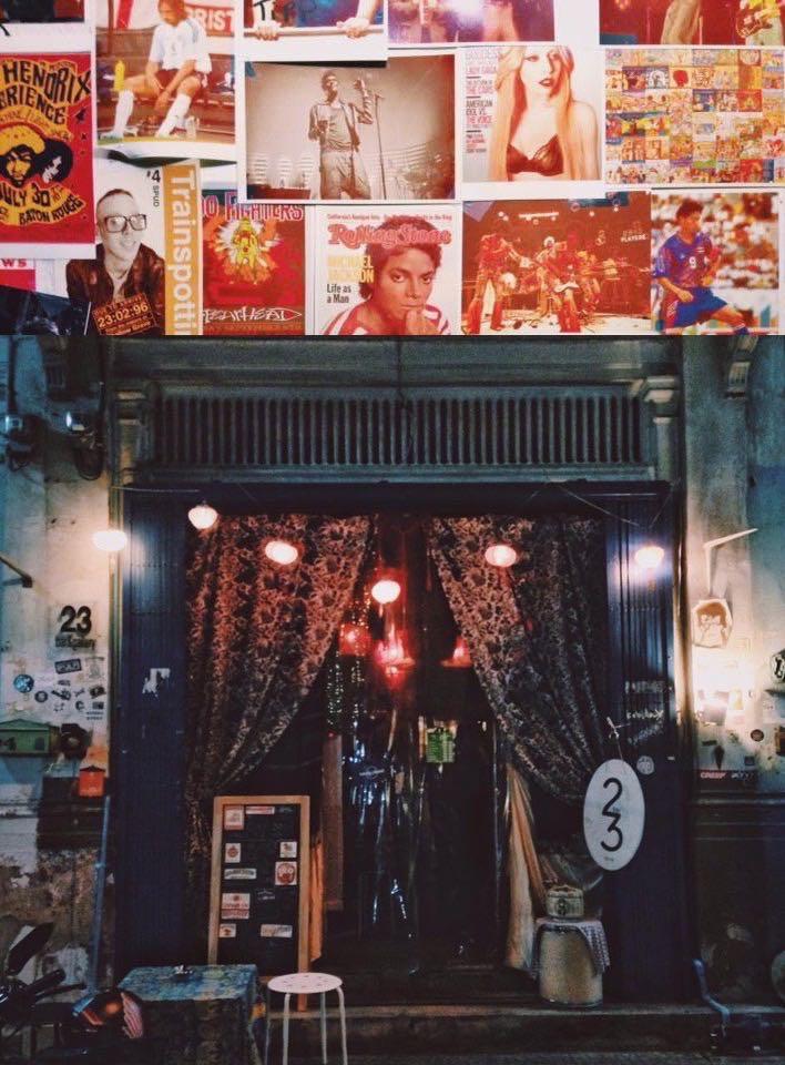 Funky Art Dive underground Bars in Bangkok, Thailand