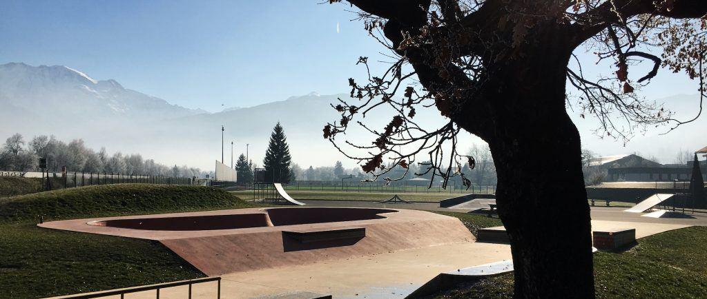 skate park in Chamonix