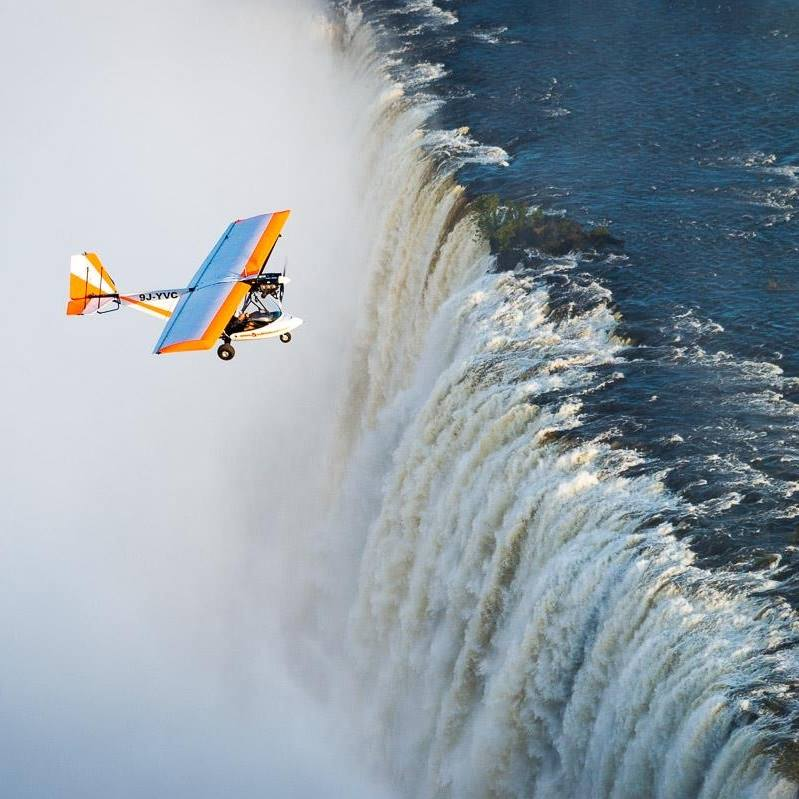 Taking a micro-flight over the victoria falls is one of the best things to do on an African adventure