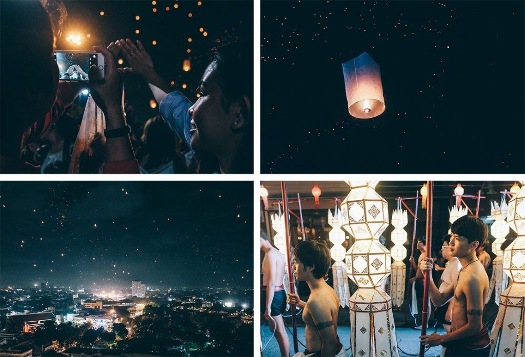 Loy Kratong – A lantern festival in Chiang Mai, Thailand backpacking the asian trail