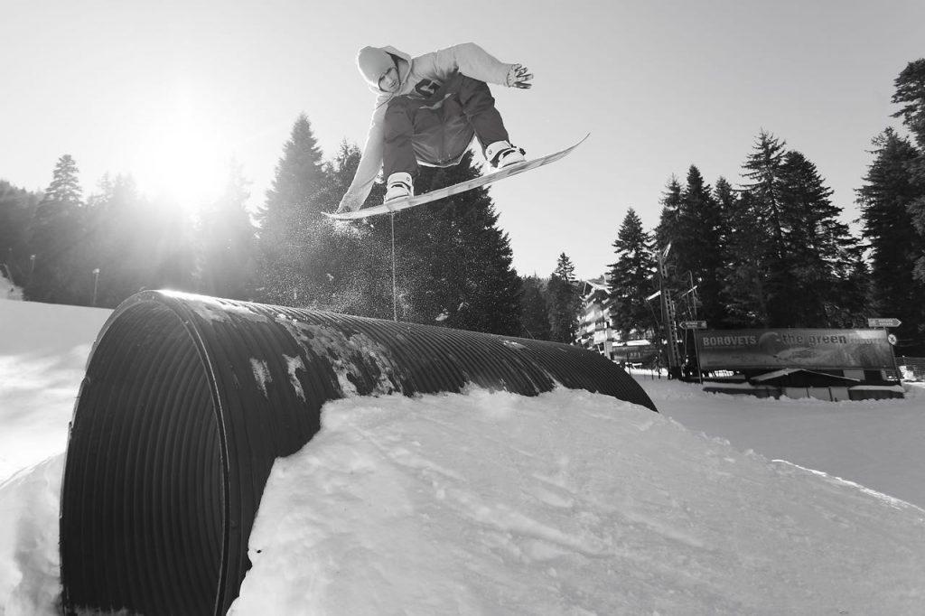 Snowboarding park Borovets, Bulgaria