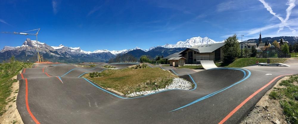 bmx pump track in Chamonix