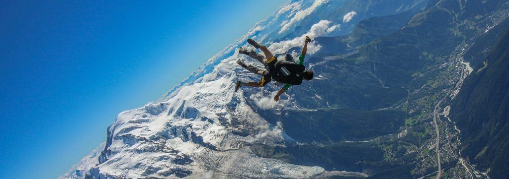 skydiving in Chamonix