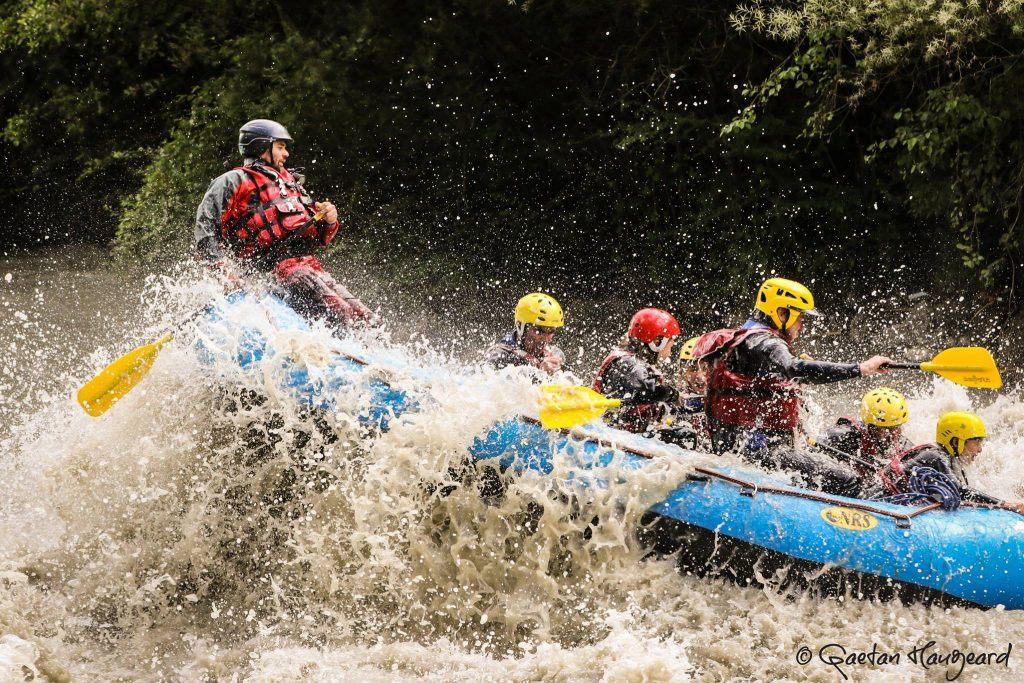 white water rafting in Chamonix