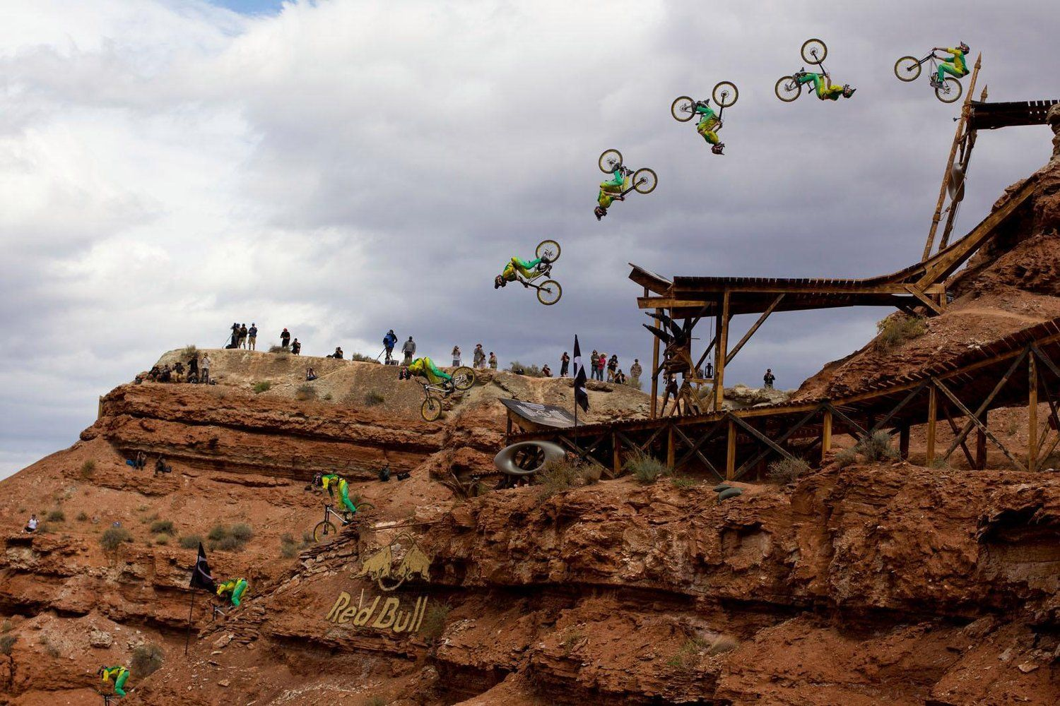 Mountain biker flipping out at Red Bull rampage a bucket List Worthy Sporting Events for Two-Wheel Addicts