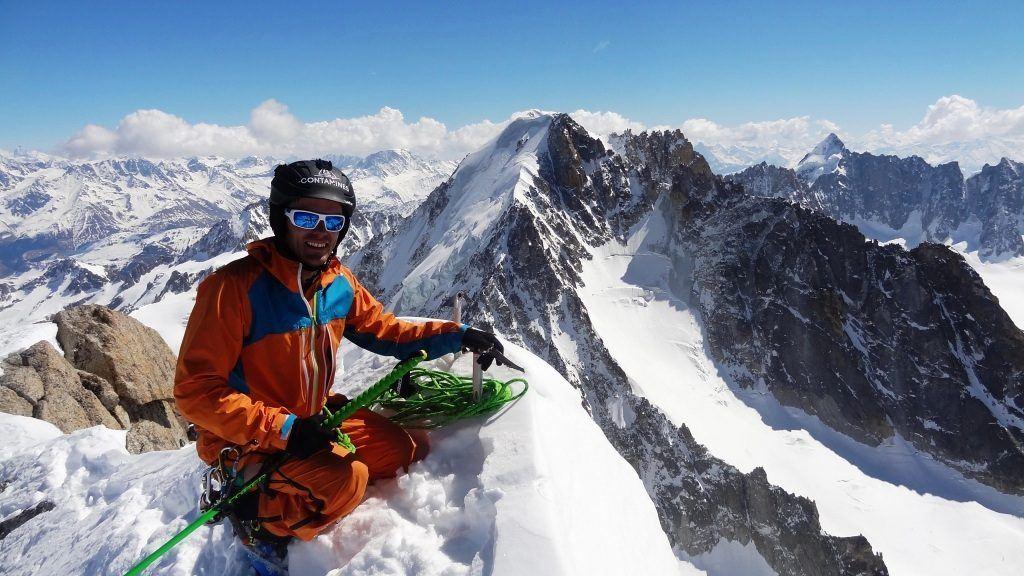 ski mountaineering in Chamonix