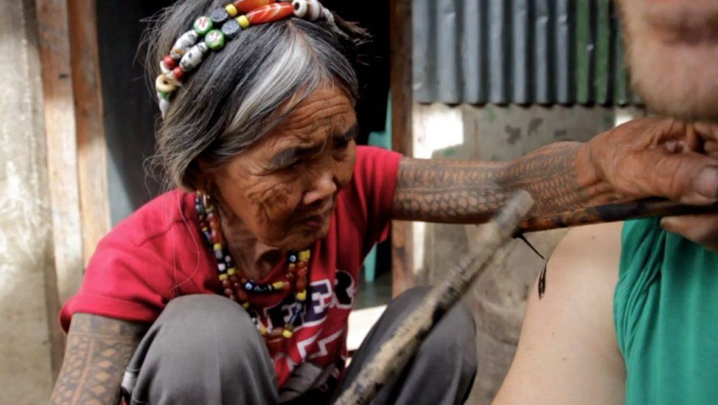 island adventures get a traditional Kalinga Tattoo in the Philippines
