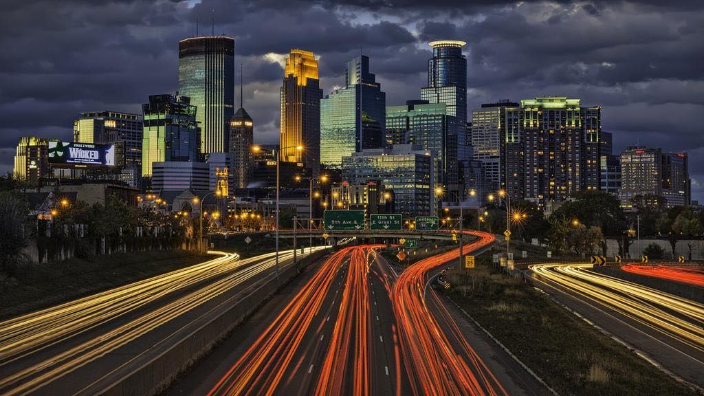 Minneapolis skyline at night home to X Games