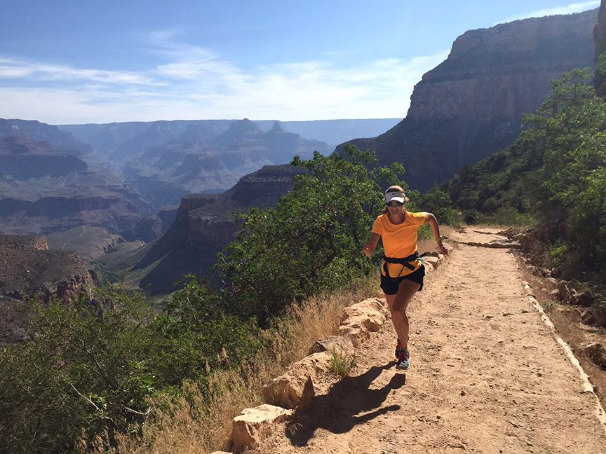 run in north america on the bright angel trail Grand Canyon