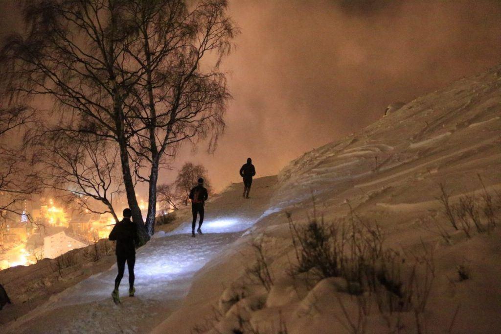 Night Snowtrail