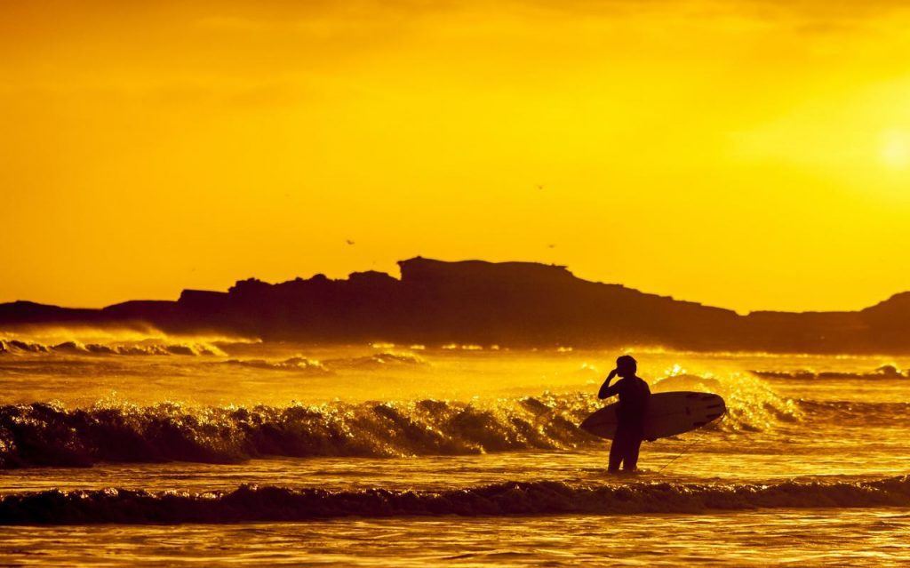 surfing newcomers in Baja California