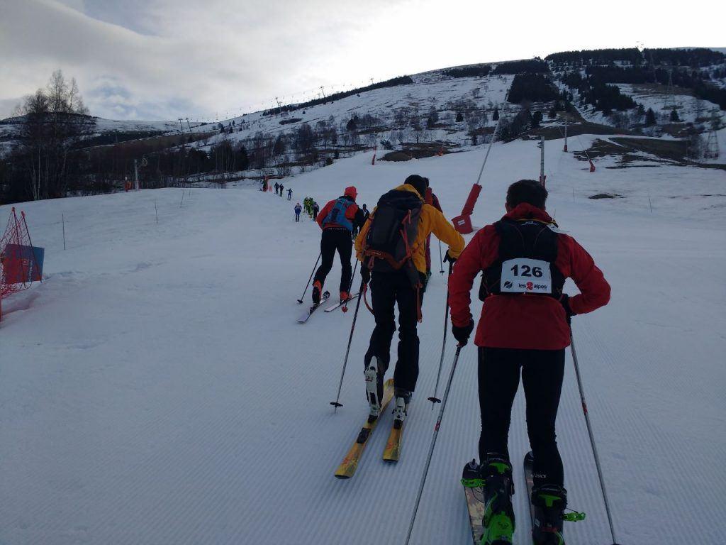 endurance events ski touring in defi vertical