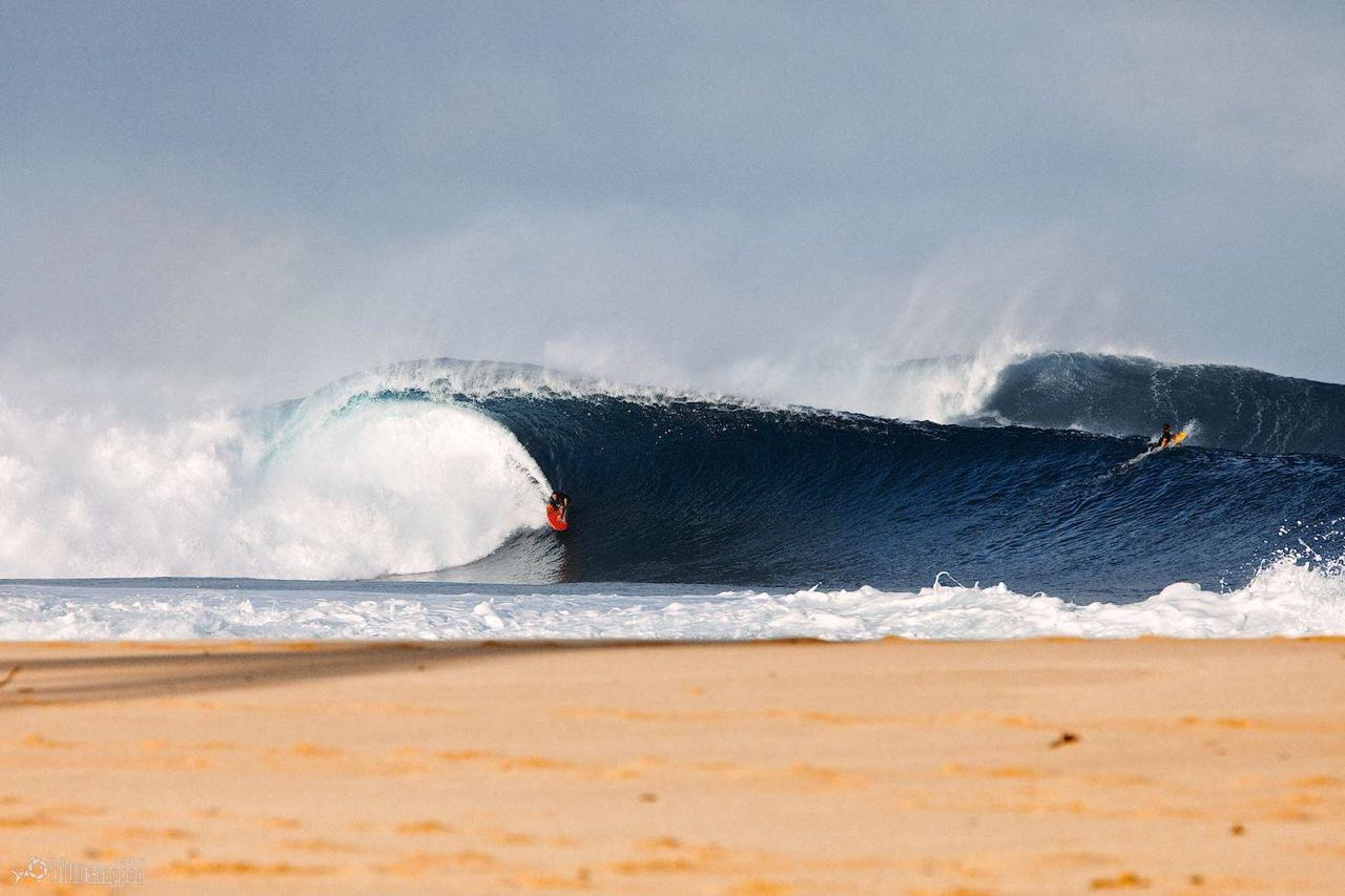 Pipeline Masters in December on the North shore, Oahu