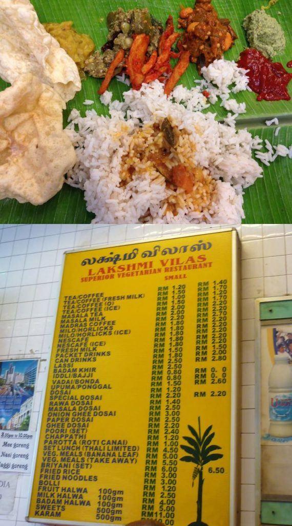 Lakshmi restaurant and banana leaf Food Gems In Kuala Lumpur