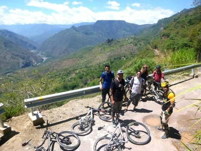 Mountain biking in Chicamocha Canyon, Colombia