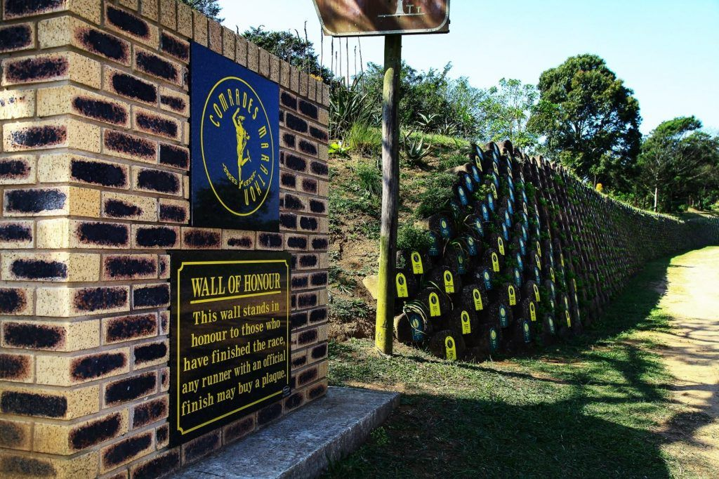 Wall of Honour - buy a brick if you finish